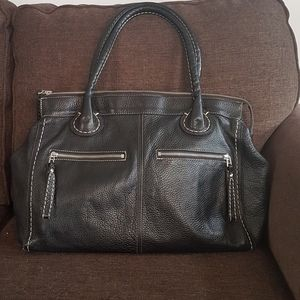 Roots large leather tote